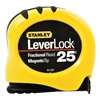Stanley 33-281 Measuring Tape, Fraction, 25 Ft, Yellow/Blk