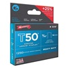 Arrow 50924 Staples, T50, 3/8x9/16 In L, PK 1250