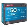 Arrow 504IP Staples, T50,3/8x1/4 In L, PK 5000