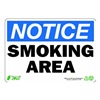 Zing 1135 Notice Smoking Sign, 7 x 10In, ENG, Text