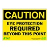 Zing 2147 Caution Sign, 10 x 14In, BK/YEL, ENG, Text