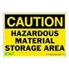 Zing 1150S Caution Sign, 7 x 10In, BK/YEL, ENG, Text