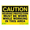Zing 2151 Caution Sign, 10 x 14In, BK/YEL, ENG, Text