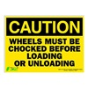 Zing 2153S Caution Sign, 10 x 14In, BK/YEL, ENG, Text