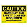 Zing 2156 Caution Sign, 10 x 14In, BK/YEL, ENG, Text