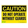 Zing 2157S Caution Sign, 10 x 14In, BK/YEL, ENG, Text
