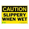 Zing 1158S Caution Sign, 7 x 10In, BK/YEL, ENG, Text