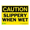 Zing 2158S Caution Sign, 10 x 14In, BK/YEL, ENG, Text