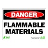 Zing 2123 Sign, Danger Flammable Material, 10x14