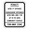Lyle HC-NJ01-10HA ADA NJ No Parking Sign, 12 x 10In, BK/WHT