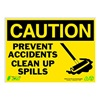 Zing 2159 Caution Sign, 10 x 14In, BK/YEL, ENG, MAL NT