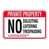Brady 141794 Parking Sign, 12 x 18In, R/WHT, Text