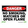 Zing 2110A Danger No Smoking Sign, 10 x 14In, ENG