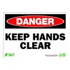 Zing 2119 Sign, Danger Keep Hands Clear, 10x14