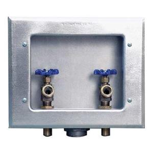 oatey washer dryer hookup box Dryer, range & bath vents danco 2-valve center outlet washing machine box - ob-201 oatey quadtro washing machine outlet box with a copper sweat connection.