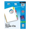 Avery 23076 Index Tab Set, Write-On, 5 Tabs, Multicolor