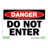 Zing 2093 Sign, Danger Do Not Enter, 10x14, Plastic