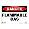 Zing 2127 Sign, Danger Flammable Gas, 10x14, Plastic