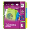 Avery 11900 Index Tab Set, Insertable, 5 Tabs, Colored