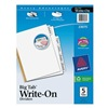 Avery 23075 Index Tab Set, Write-On, 5 Tabs, White