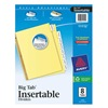 Avery 11112 Index Tab Set, Insertable, 8 Tabs, Clear