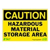 Zing 2150 Caution Sign, 10 x 14In, BK/YEL, ENG, Text