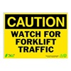Zing 2155 Caution Sign, 10 x 14In, BK/YEL, ENG, Text