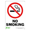 Zing 1085S Sign, No Smoking 10X7, Adhesive
