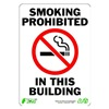 Zing 1086 Sign, Smoking Prohibited, 10x7, Plastic