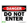Zing 2093S Sign, Danger Do Not Enter, 10x14, Adhesive