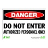 Zing 1094 Sign, Danger Do Not Enter, 7x10, Plastic