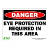 Zing 2097S Sign, Danger Eye Protection, 10x14