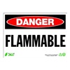 Zing 1098 Sign, Danger Flammable, 7x10, Plastic