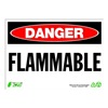 Zing 2098 Sign, Danger Flammable, 10x14, Plastic