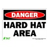Zing 2102S Sign, Danger Hard Hat Area, 10x14, Adhesive