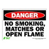 Zing 1110S Sign, Danger No Smoking, 7x10, Adhesive