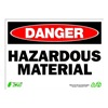 Zing 2114 Sign, Danger Hazardous Material, 10x14