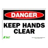 Zing 1119S Sign, Danger Keep Hands Clear, 7x10