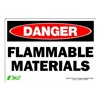 Zing 1123S Sign, Danger Flammable Material, 7x10