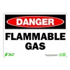 Zing 1127 Sign, Danger Flammable Gas, 7x10, Plastic