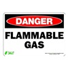 Zing 1127S Sign, Danger Flammable Gas, 7x10, Adhesive