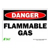 Zing 2127S Sign, Danger Flammable Gas, 10x14, Adhesive