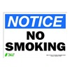 Zing 2133S Notice No Smoking Sign, 10 x 14In, ENG