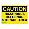 Zing 2150S Caution Sign, 10 x 14In, BK/YEL, ENG, Text