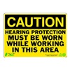 Zing 1151 Caution Sign, 7 x 10In, BK/YEL, ENG, Text