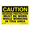 Zing 1151S Caution Sign, 7 x 10In, BK/YEL, ENG, Text