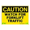 Zing 1155 Caution Sign, 7 x 10In, BK/YEL, ENG, Text