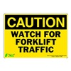 Zing 1155S Caution Sign, 7 x 10In, BK/YEL, ENG, Text