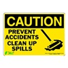 Zing 1159S Caution Sign, 7 x 10In, BK/YEL, ENG, MAL NT