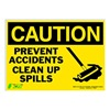Zing 2159S Caution Sign, 10 x 14In, BK/YEL, ENG, MAL NT